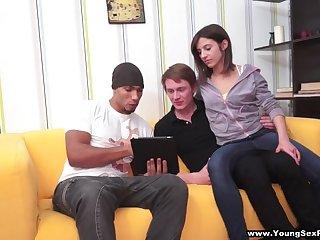 Interracial DP sex party